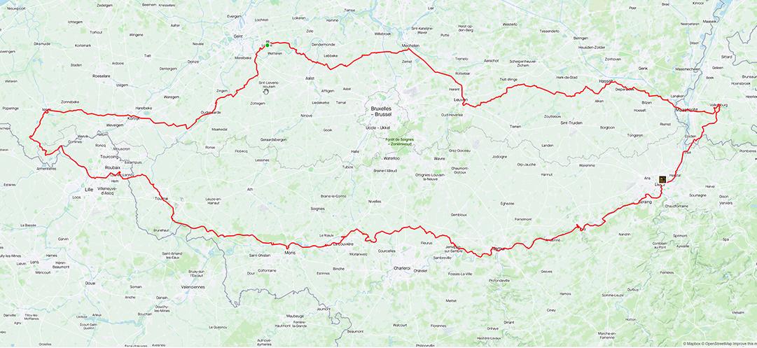 620 km langs de klassiekers en het WK